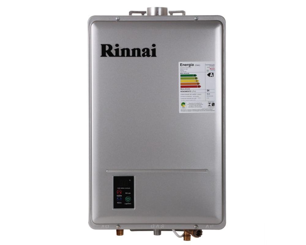 Aquecedor Digital Gás 18L REU1302FEH Rinnai 18L GLP Prata